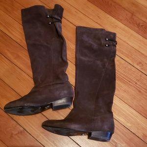 Brown Suede Harvey - Trista Boots